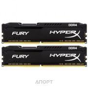 Фото Kingston 32GB (2x16GB) DDR4 2666MHz HyperX Fury Black (HX426C16FBK2/32)