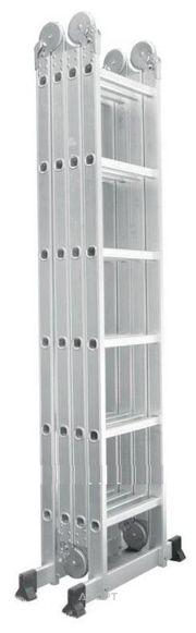 Фото SevenBerg Шарнирная четырехсекционная лестница-трансформер QH-4х6 940446