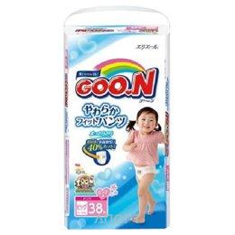 Goo.N Подгузники-трусики для девочек XL 12-20 кг (38 шт.)