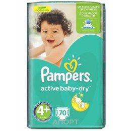 Pampers Active Baby Maxi Plus 4+ (70 шт.)