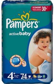 Фото Pampers Active Baby Maxi Plus 4+ (74 шт.)