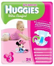 Фото Huggies Ultra Comfort для девочек 3 (21 шт.)