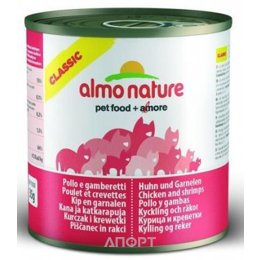 Almo Nature Classic Adult Cat Chicken and Shrimps 0,28 кг