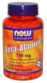 Фото Now Beta-Alanine 750mg 120 caps