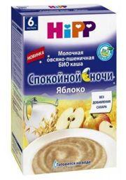 Фото Hipp Каша молочная Спокойной ночи Овсяно-пшеничная БИО с яблоком 250 г