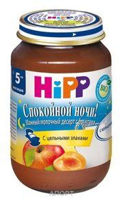 Фото Hipp Пюре Спокойной Ночи Молочно-манный десерт с фруктами, 5 мес. 190 г