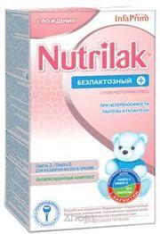 Фото Nutrilak Молочная смесь Нутрилак Безлактозный+, с рождения, 350 г