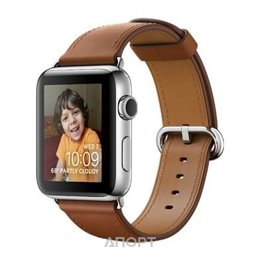 Apple Watch Series 2 38mm Stainless Steel Case with Saddle Brown Classic Buckle Band (MNP72)