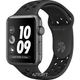 Apple Watch Series 3 Nike+ (GPS) 42mm Space Gray Aluminum w. Anthracite/BlackSport B. (MQL42)