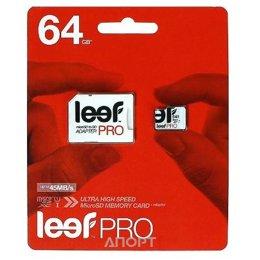 Leef microSDXC Class 10 UHS-I U1 + SD adapter 64Gb
